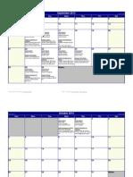 round 1 observation - debrief 2014 calendar
