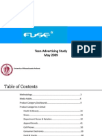 Fuse Teen Advertising Study 2009
