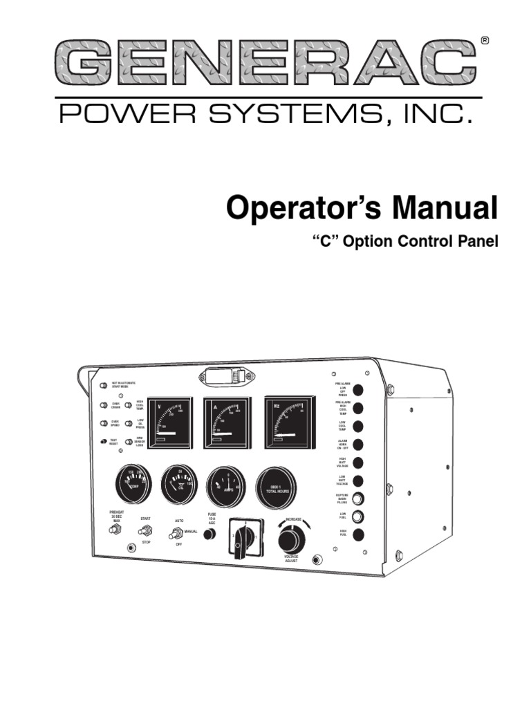c option control panel operator s manual oc4205 march 2001 rh scribd com