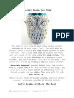 Crochet Mason Jar Cozy