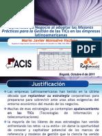 Beneficios Mejores Practicas Gestion Tics Mario Monsalve 2011 06-05-111012181026 Phpapp02