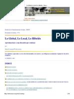 Lo Global, Lo Local, Lo Hibrido