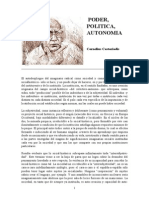 Castoriadis -- Poder, Politica, Autonomia