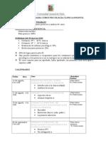 Cronograma Psicologia Clinica Infantil