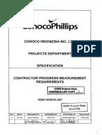 84501-9200-9L-007 Rev-2 Contractor Progress Measurement Requirements