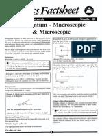 Momentum Macroscopic and Microscopic