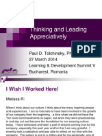 Thinking and Leading Appreciatively