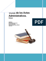 Ensayo Sobre Los Vicios Del Acto Administrativo.