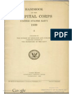 US Navy Handbook Of The Hospital Corps 1939