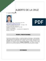 Hoja de Vida de Carlos Alberto de La Cruz Pedraza