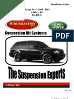 Range Rover 2003 - 2006 RR-R3-F3 4Wheel Kit