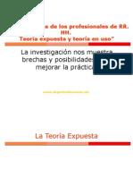 Competencias de los profesionales de RR. HH. Teoría expuesta vs. Teoría en uso 1.