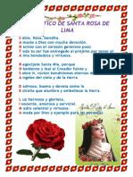 Acrostico de Santa Rosa de Lima