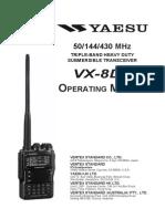 VX 8DE Manual