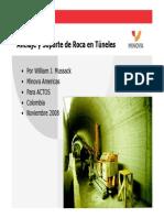 Asrt Anclaje y Sopoprte de Roca en Tunels