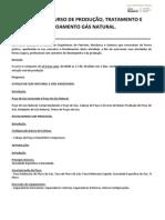 Ementa Curso Producão, Tratamento e Escoamento de Gas Natural