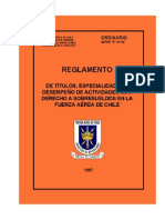 Reglamento Serie E 34 Especialidades y Sobresueldos