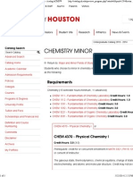 Chemistry Minor - University of Houston - Acalog ACMS™