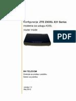 Zte Zxdsl 831 Series Adsl Pppoe Router Mode