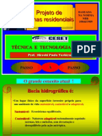 PROJETO DE CALHAS RESIDENCIAIS + NBR 2009