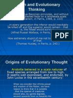 Darwin and Evolutionary Thinking