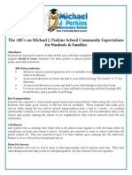 The ABCs of MJP of Expectations for Families & Students