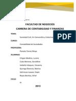 Informe Sociedad Civil, En Comandita, Colectiva