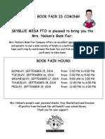 Fall Book Fair Coming 2014