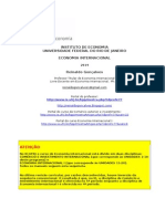 Programa Completo Curso Economia Internacional