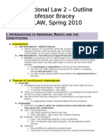 Constitutional Law II - Bracey - Spring 2010