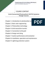 Course Content GCPV Design