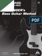 Behringer Bass Guitar Method