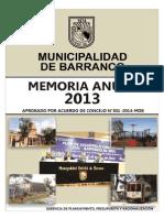 Memoria Anual 2013 MDB