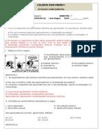 Atividade de Introdução Equinodernos Gabarito