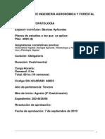 Programa Plan 8 Fitopatologia