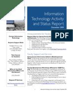 December 2009 IT Status Report