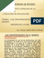 Las Universidades en El Mundo