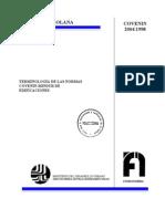 Terminologia de Las Normas NormCovenin Mindur de Edificaciones 2004