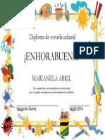 Diploma de Escuela Infantil