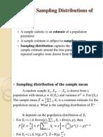 sample distribution statistics