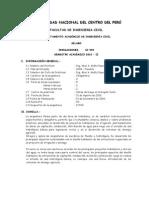 Sillabus de Irrigaciones UNCP 2010-II