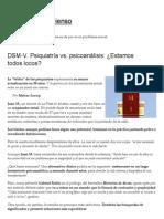 DSM-V. Psiquiatría vs Psicoanalisis