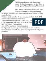 Victor Lopez 2008 Presentacion a La Iglesia