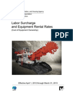 California - Euipment Rental Rates - 2013-2013