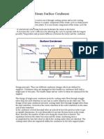 Steam Surface Condenser Notes