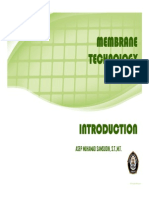 INTRODUCTION [Membrane Technology]