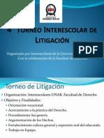 4to Torneo Interescolar de Litigación 2014