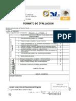 Formato de Evaluacin Gestion Empresarial