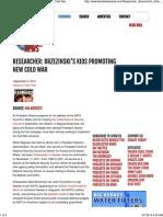 Researcher_ Brzezinski's Kids Promoting New Cold War