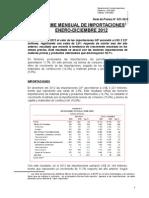 Informe Mensual de Importacion 2012